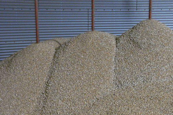 Omrøring i meget vådt korn.
